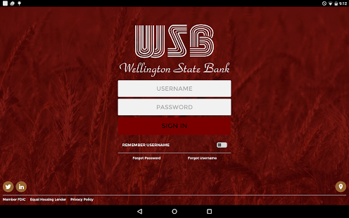 Wellington State Bank- screenshot thumbnail