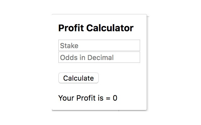 Odds and Stake Plus