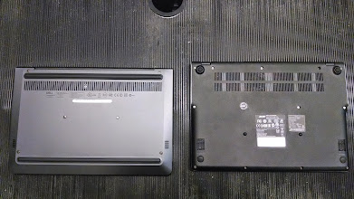 Photo: Back. Dell on Left, Acer on Right