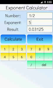 Exponent Calculator screenshot 2