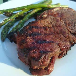 Grilled Hawaiian Ribeye Steaks (Meat).