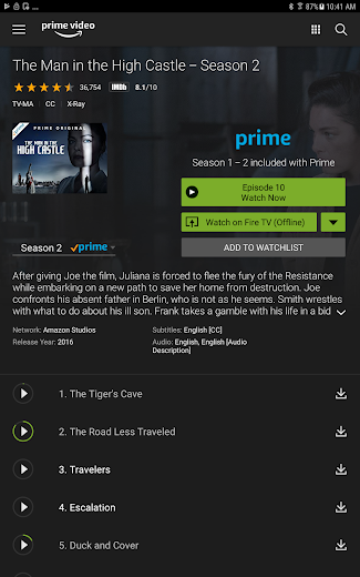 Screenshot 8 for Amazon Video's Android app'