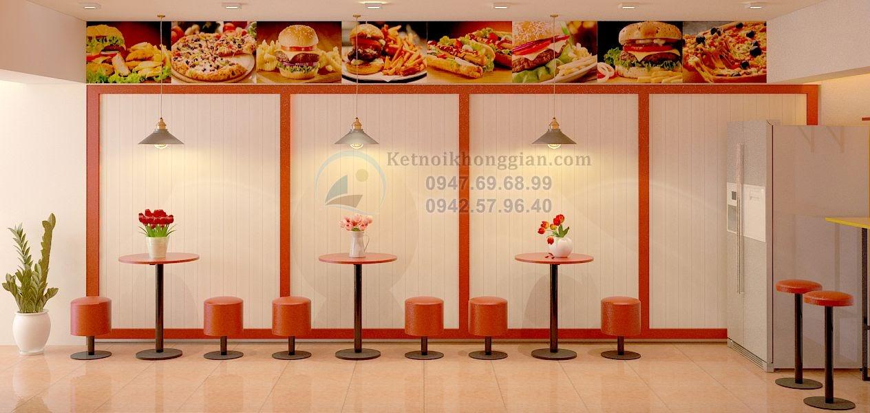 thiết kế quán ăn nhanh cá tính, nóng bỏng