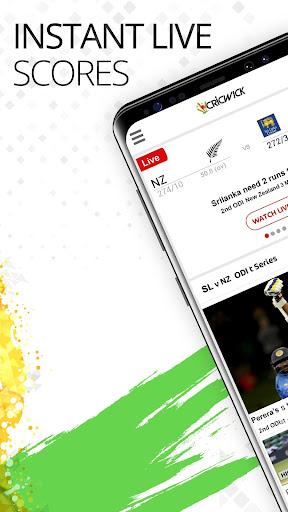 Cricwick:  World Cup 2019 Live Scores & Highlights  captures d'u00e9cran 1
