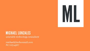 Lonzales Tech Consultant - Business Card Template