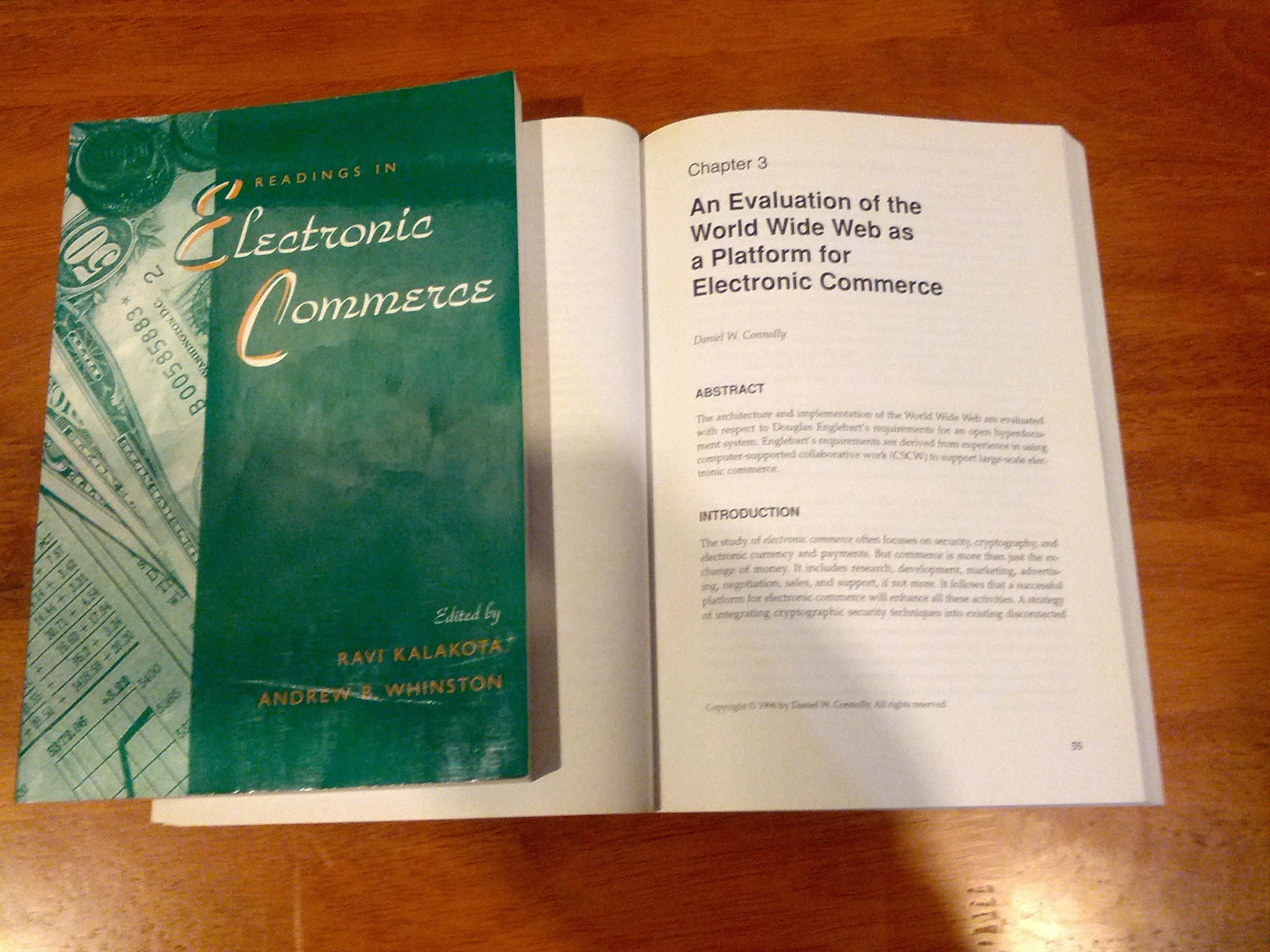"Photo: A paper I wrote for a 1995 Electronic Commerce conference at U.T. Austin, evaluating the World Wide Web against Engelbart's requirements (""essential elements"")"