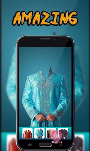 Man Sherwani Suit Camera