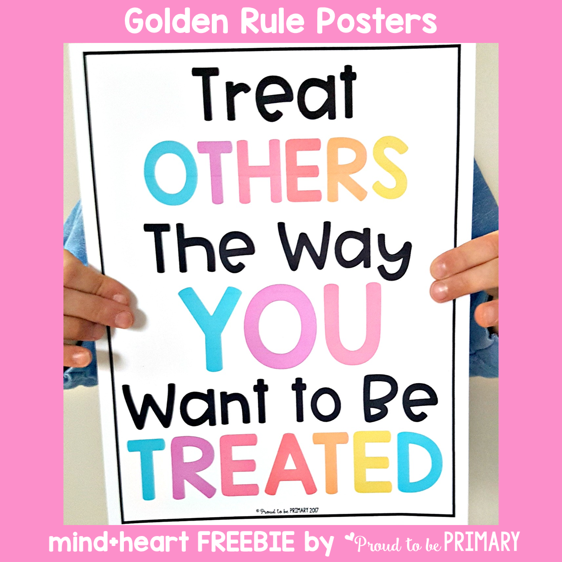 teaching respect - golden rule posters