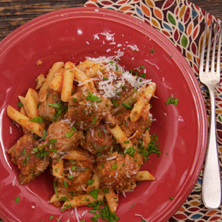 Curtis Stone's Sausage Meatballs and Penne