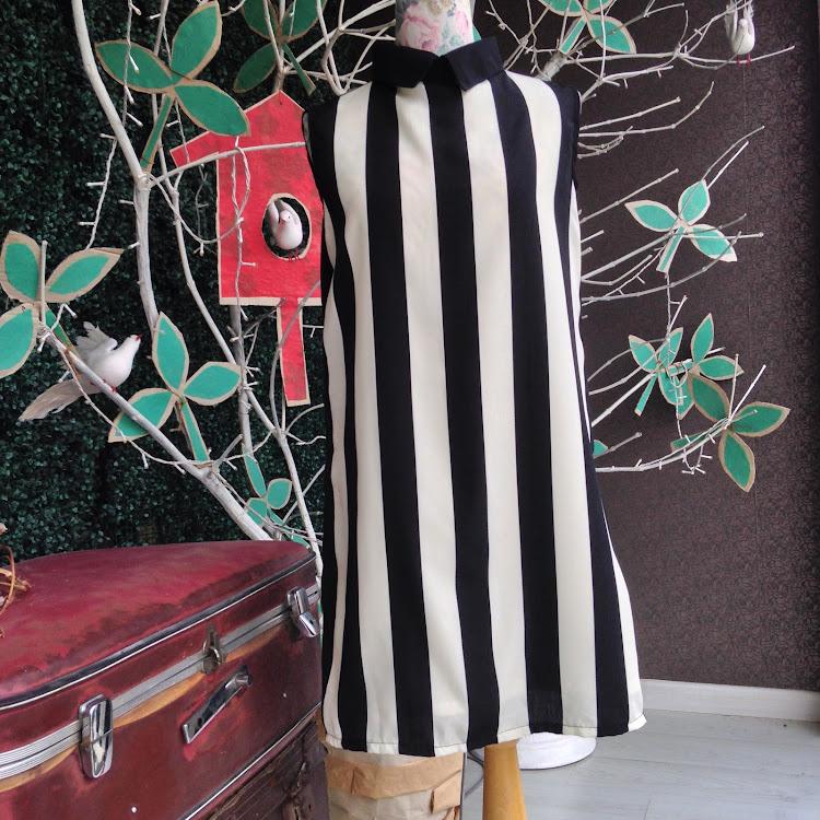 Sleeveless Zebra Striped Dress by Le Tea Boutique