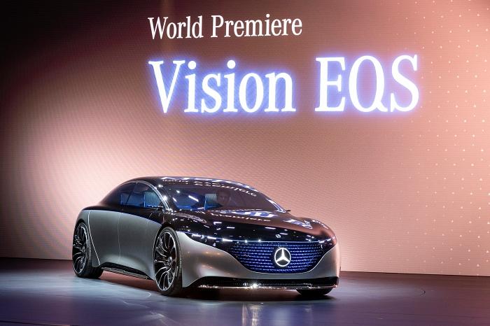 Mercedes-Benz Vision EQS 2019 รถต้นแบบระดับ S-class