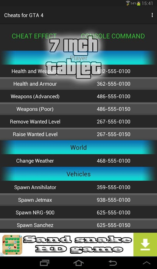 Gta  Car Cheats Android