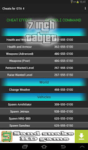 Cheats guide for GTA 4 5