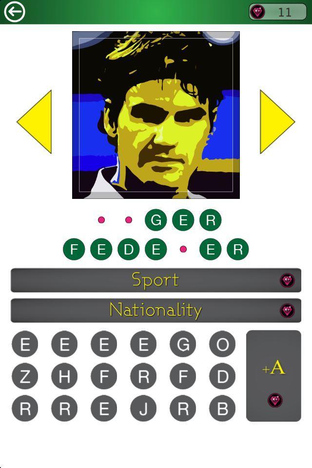 Скриншот Famous Athletes PopArt Quiz