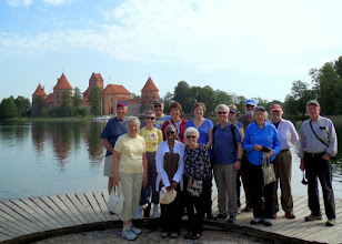 Photo: Later that morning, our group of fourteen travelers drove 15 miles out of town to see the medieval castle of Trakai.