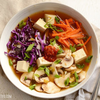 Hot & Sour Vegetable Soup with Tofu.