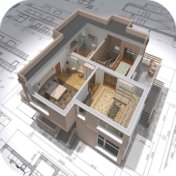 3D House Plans - 3 Bedroom