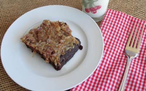 "Click Here for Recipe: Light German Chocolate Cake ""This German chocolate cake..."