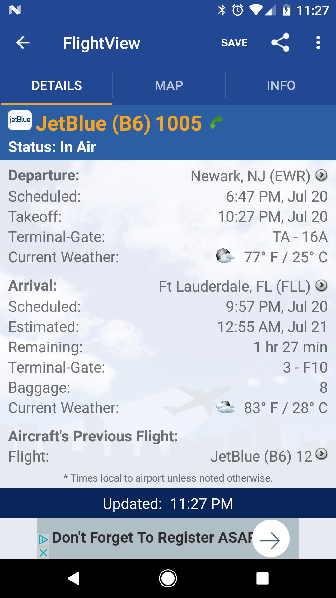 FlightView Free Flight Tracker screenshot #3