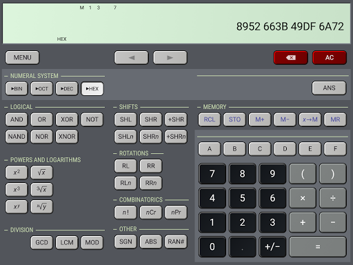 Screenshot for HiPER Calc Pro in United States Play Store