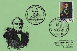 Photo: Matasellos Primer Dia de Circulación del sello de Alejandro Mon 2002