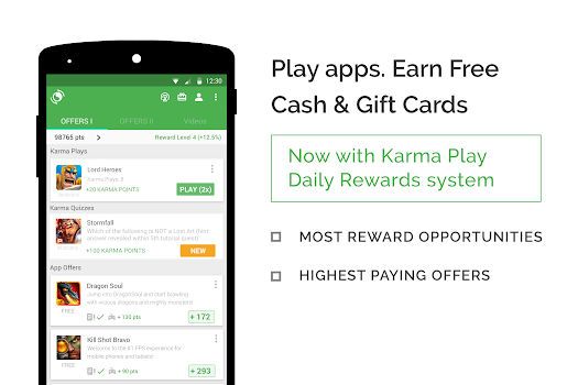 appKarma Rewards and Gift Cards