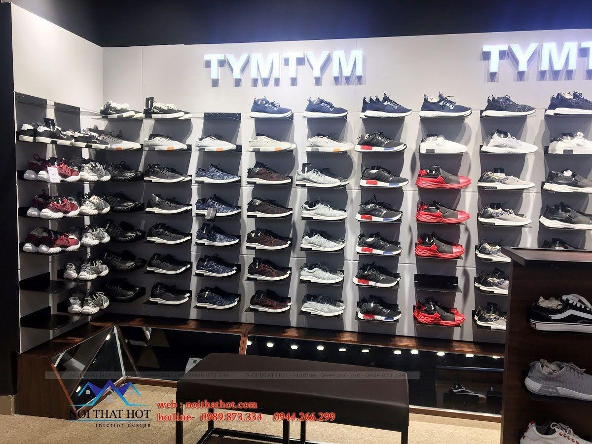 thi công shop giày nam 14