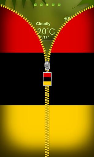 Germany Flag Zipper Lockscreen