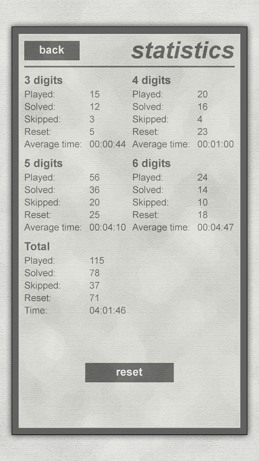 LogiBrain Numbers- screenshot