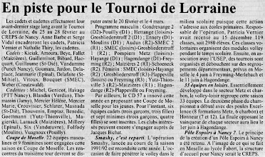 Photo: 20-01-97 Stages cadettes de Lorraine, quatre sélectionnées de l'ASVB