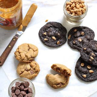 Gluten-Free Chocolate Chip Peanut Butter Cookies.