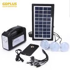 Kit panou solar GDPLUS-GD7 cu 3 becuri si lanterna inclusa