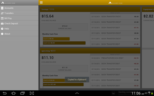 Alliance Bank Business Tablet- screenshot thumbnail