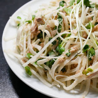 Japanese Radish Salad with Tuna and Radish Sprouts.