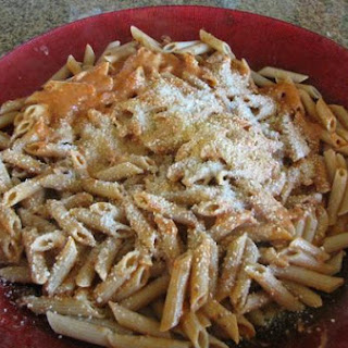 Tomato Vodka Sauce Over Penne