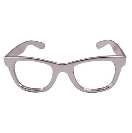 Glasögon, silver blank