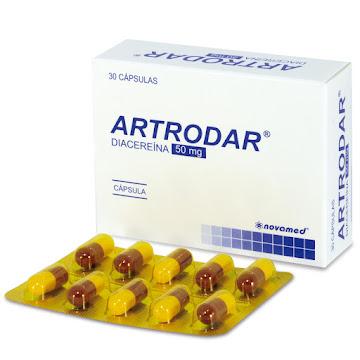 Artrodar 50Mg Cápsulas   Caja x30Cap. Novamed Diacereína