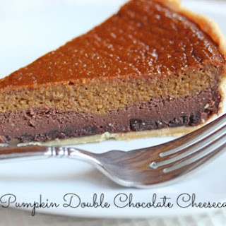 Pumpkin Double Chocolate Cheesecake Pie