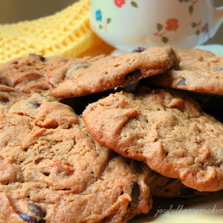 Flourless Peanut Butter and Chocolate Chip Cookies.