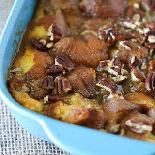 Caramel Pecan Breakfast Casserole.