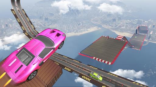 Impossible Tracks Car Stunts Driving: Racing Games apkslow screenshots 3