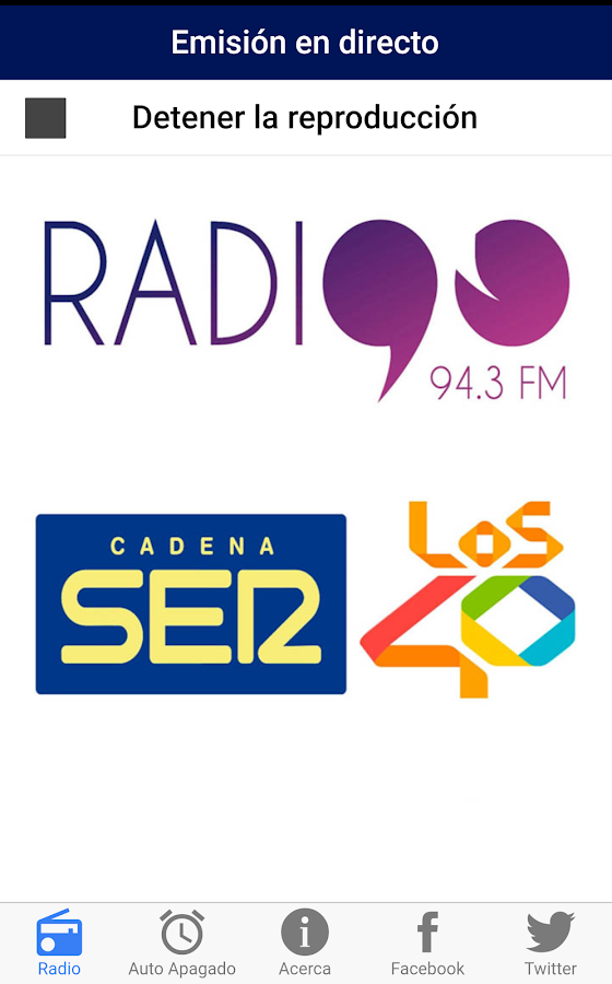Radio 90 - Cadena SER- screenshot