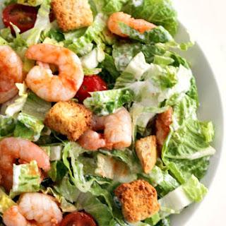 Buffalo Shrimp Caesar Salad.