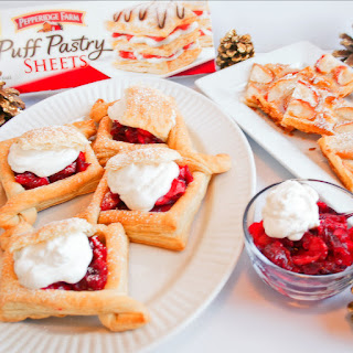 Puff Pastry Apple Tart & Apple Cranberry Jelly Puff Pastry Cases