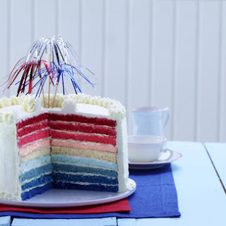 Red, White and Blue Layer Cake.