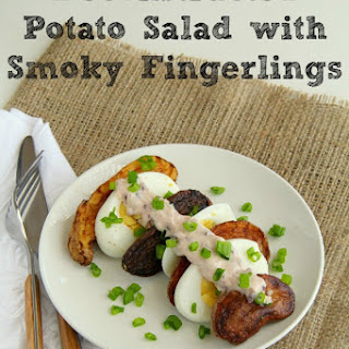 Deconstructed Potato Salad with Smoky Fingerlings.