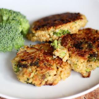 Broccoli Cheddar Quinoa Cakes.