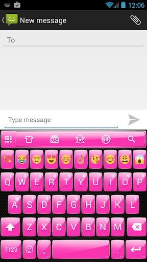 Gloss Pink Emoji Keyboard