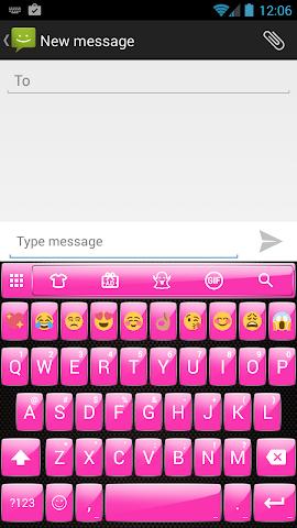 android Gloss Pink Emoji Keyboard Screenshot 0