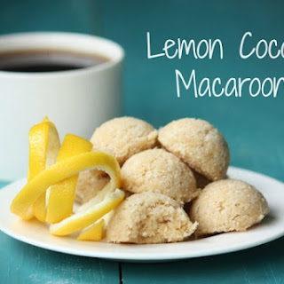 Egg Free, Lemon Coconut Macaroons (Raw or Baked)